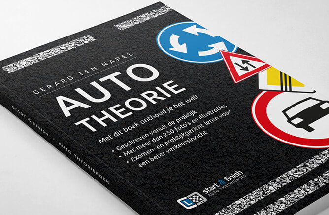 auto theorieboek start en finish